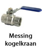 Airpipe messing kogelklep