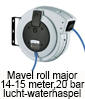 Mavell roll major luchthaspel, waterhaspel, 14-15 meter 20 bar
