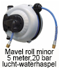 Mavell roll minor luchthaspel, waterhaspel, 5 meter 20 bar