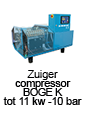 zuigercompressor BOGE K - tot 11 kw - 10 bar