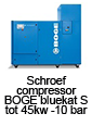 Schroefcompressor BOGE bluekat S tot 45kw - 10 bar
