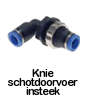 IQS push-in knie shotdoorvoer insteek fitting, pneumatische koppeling, perslucht koppeling