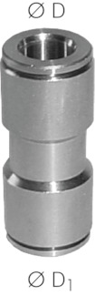 Push-In Fitting RVS verbinder